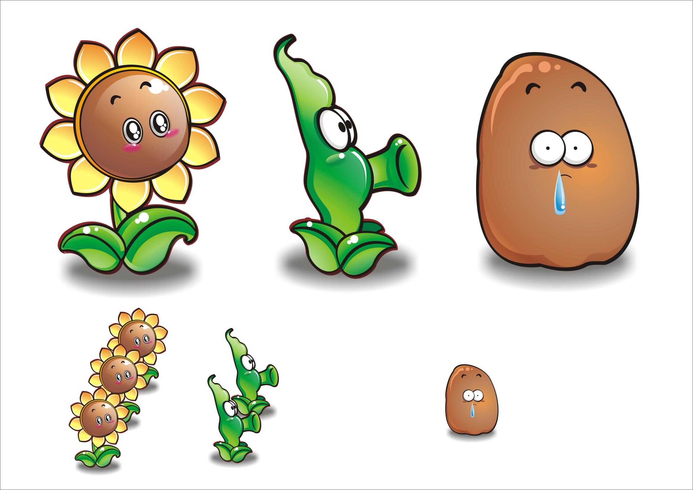 蔬菜水果卡通形象设计