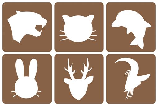 简单动物图像轮廓图
