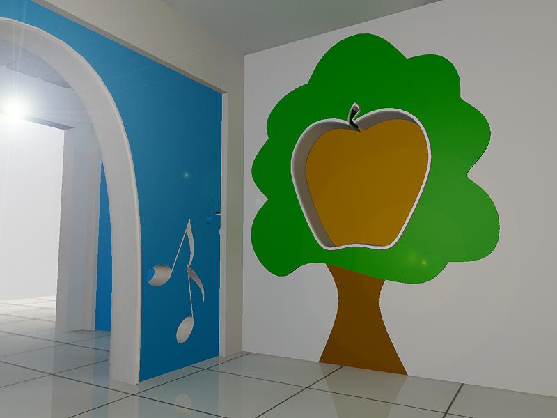 幼儿园门厅设计_2225550