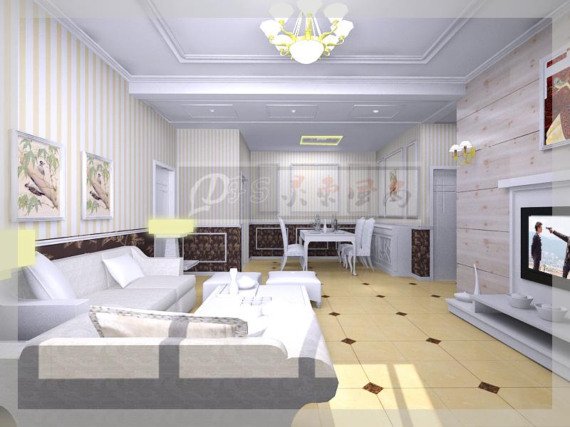 求116平米三居房屋装修设计效果图