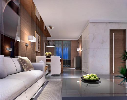 四房二厅的室内装修效果图及平面图