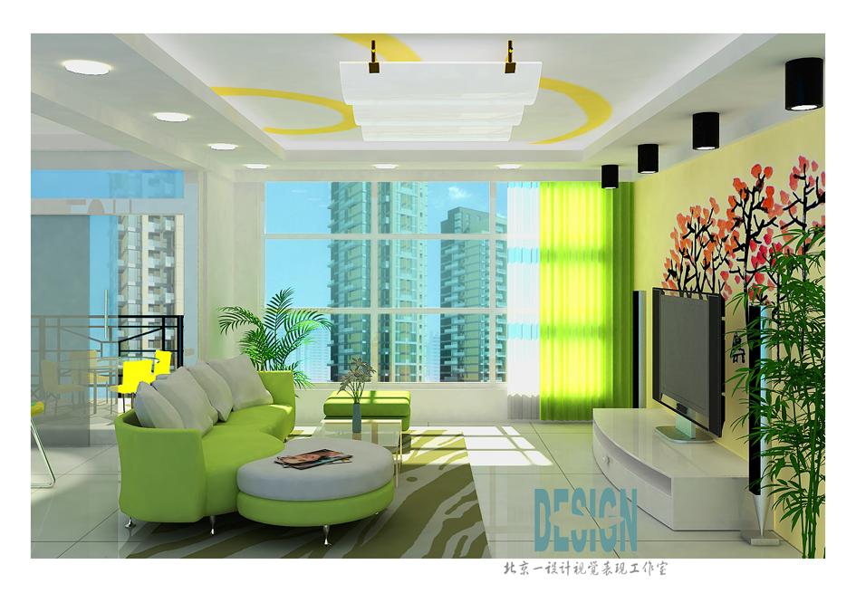 家装设计效果图(主要客厅饭厅及过道)