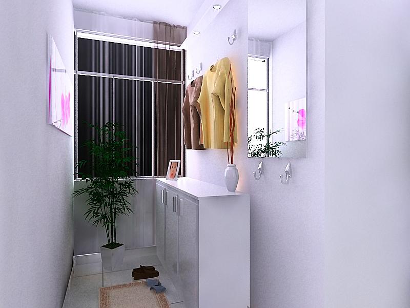入户阳台 鞋柜效果图-室内装修设计 急