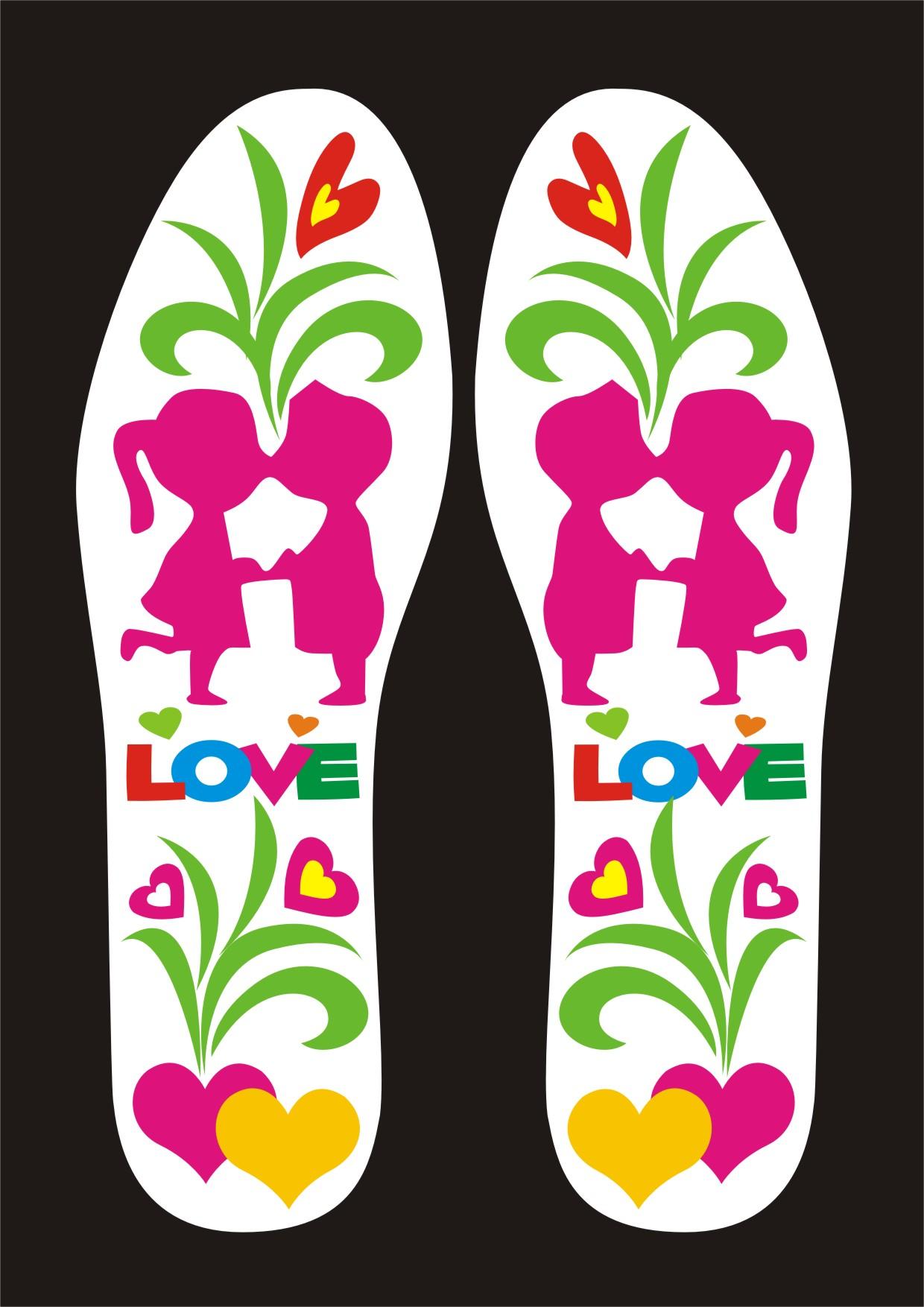 """以""""爱情""""为主题设计鞋垫"""