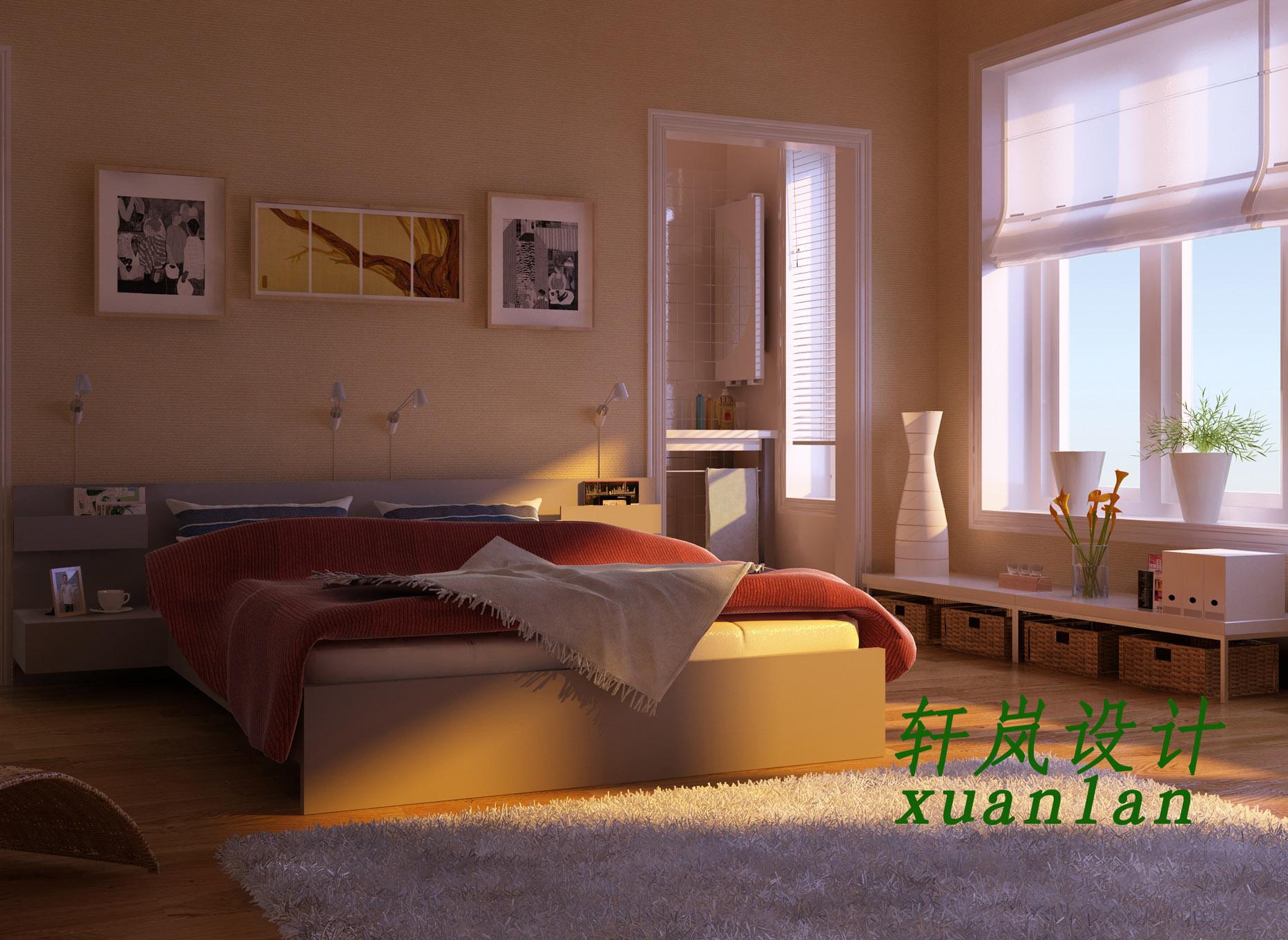 主卧室 120平米房子装修设计图四室两厅