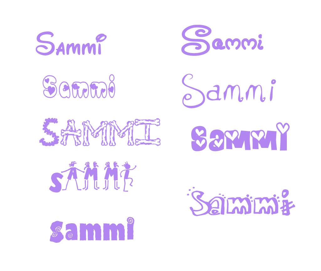 女孩英文名sammi设计博客图片水印