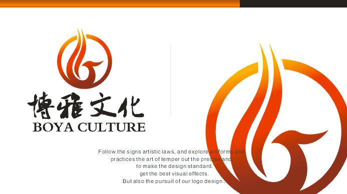 博雅文化传媒中心设计logo