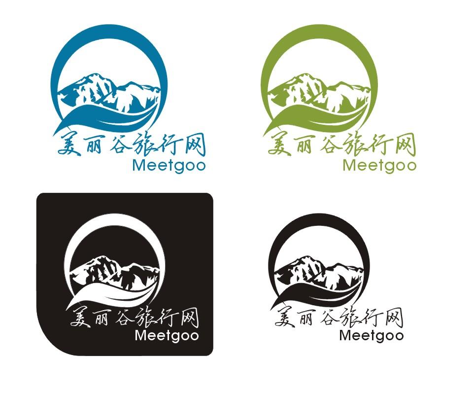 美丽谷旅行网的企业logo标志设计