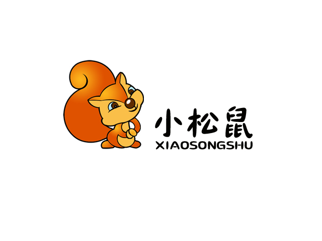 小松鼠logo设计