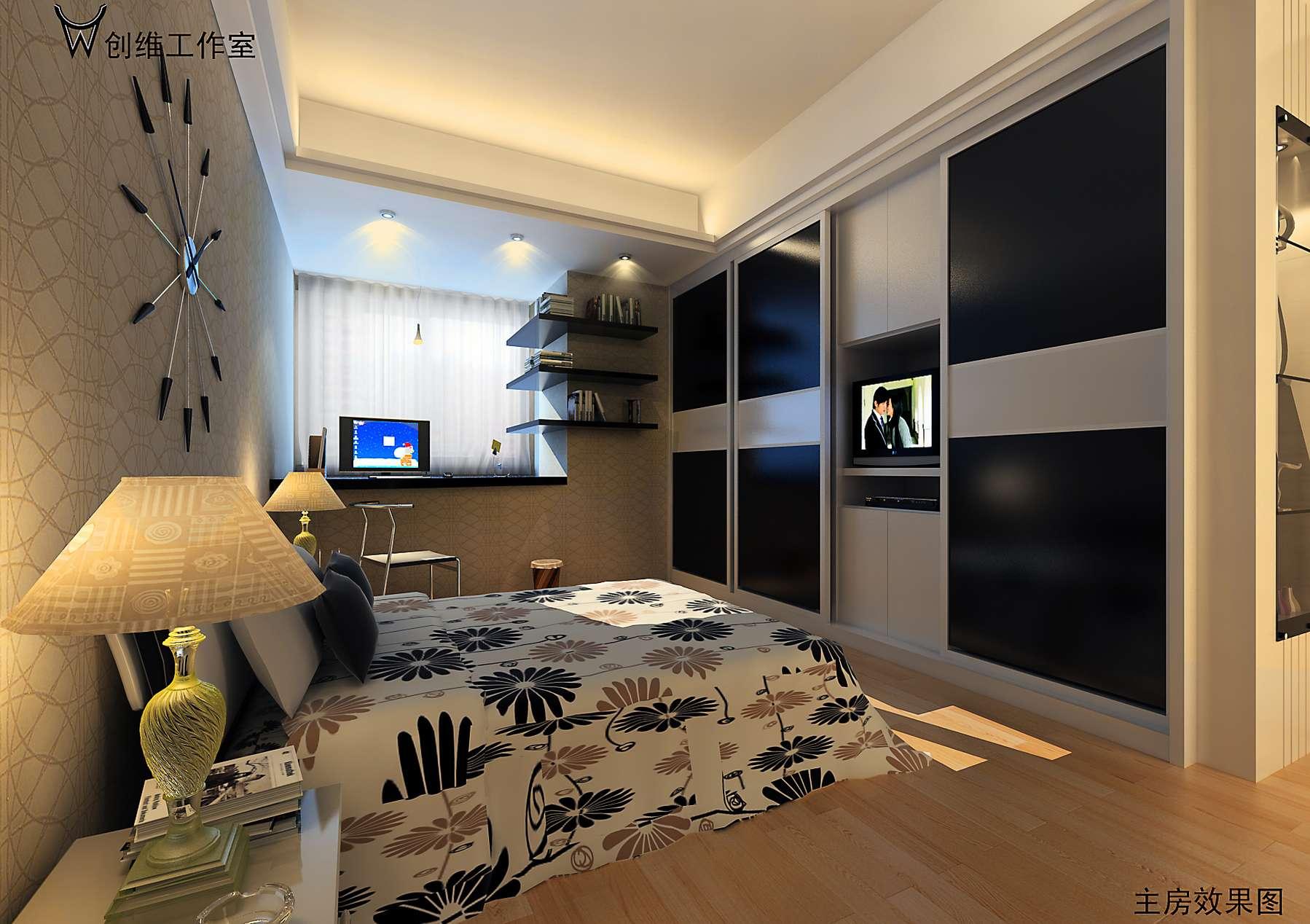 120平米装修效果图设计-两室两厅_1100元_k68威客任务