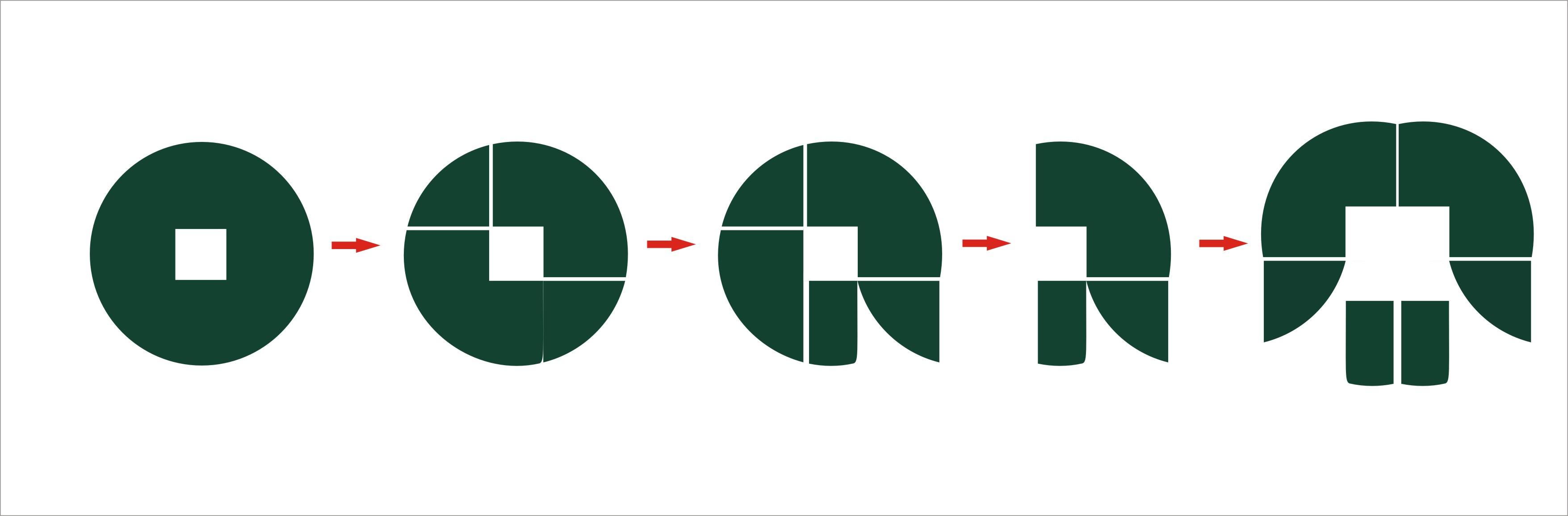 铜钱型logo设计