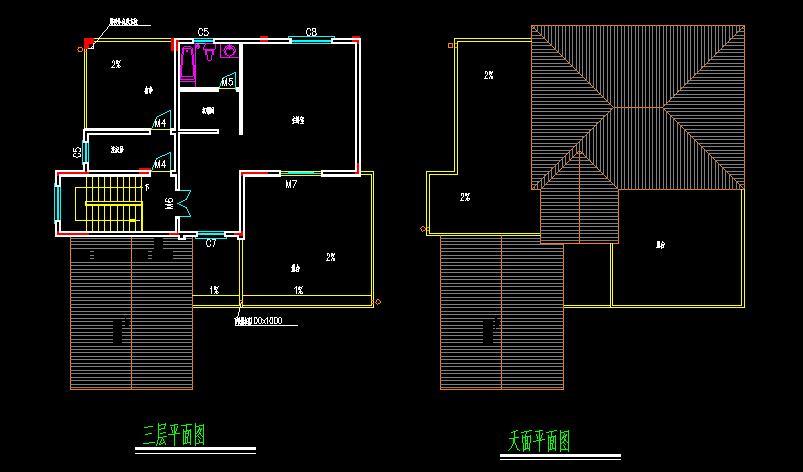 农村别墅三间地基设计图展示