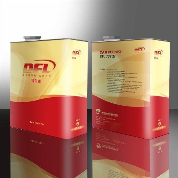 dfl油漆包装桶及纸箱设计