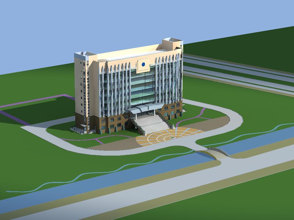 办公大楼小区绿化效果图设计(中标:y8008y ,上锈的金子)